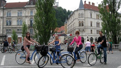 Moments from Ljubljana city bike tours